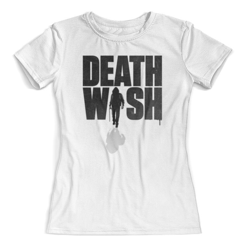 Футболка с полной запечаткой (женская) Printio Death wish футболка с полной запечаткой женская printio death skull halloween