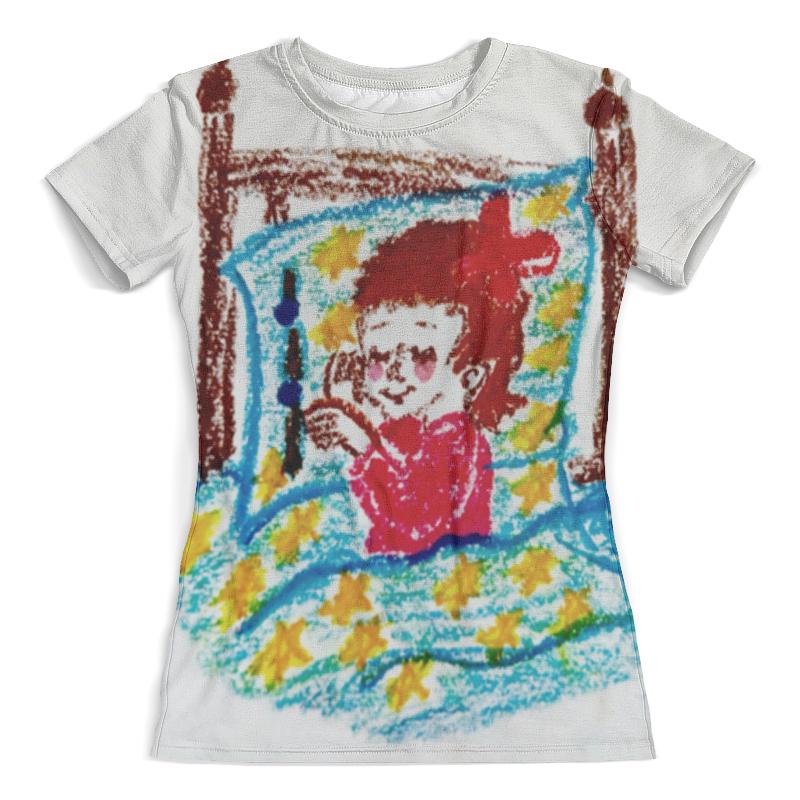 Футболка с полной запечаткой (женская) Printio Дочка спит футболка с полной запечаткой для девочек printio дочка спит