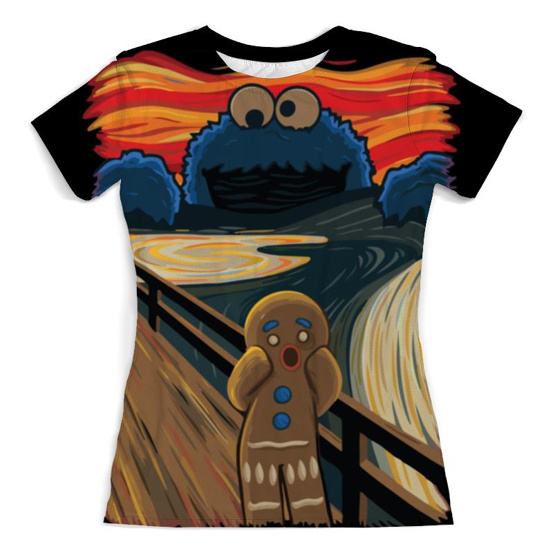 Футболка с полной запечаткой (женская) Printio Крик печеньки 3d женская футболка other 2015 3d loose batwing harajuku tshirt t a50