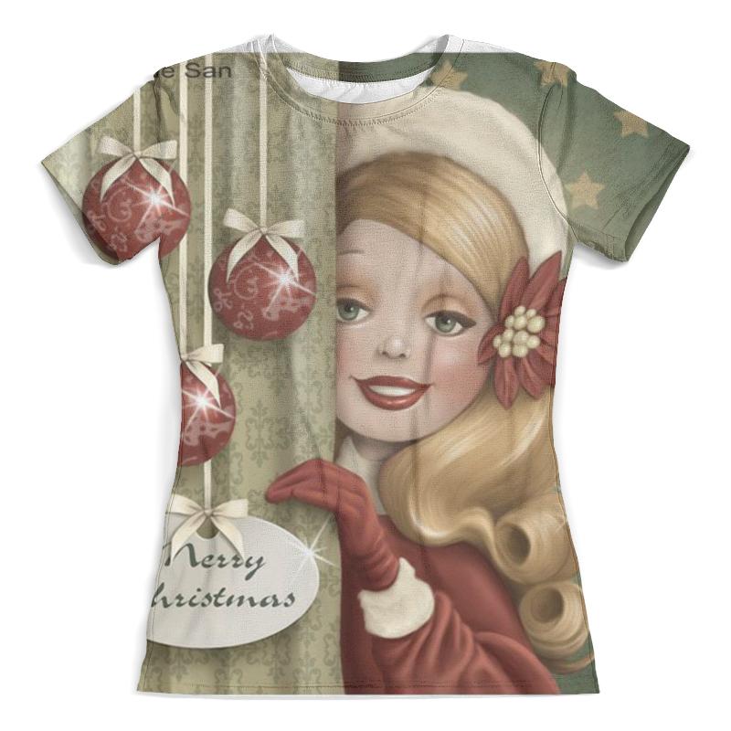Футболка с полной запечаткой (женская) Printio Merry christmas. счастливого рождества merry christmas grass cushion throw pillow case