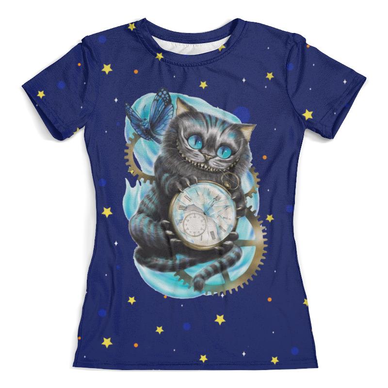 Футболка с полной запечаткой (женская) Printio Чеширский кот футболка с полной запечаткой женская printio чеширский кот