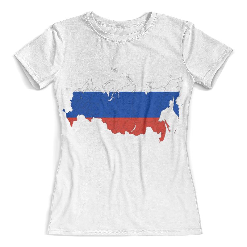 Футболка с полной запечаткой (женская) Printio Границы россии цена