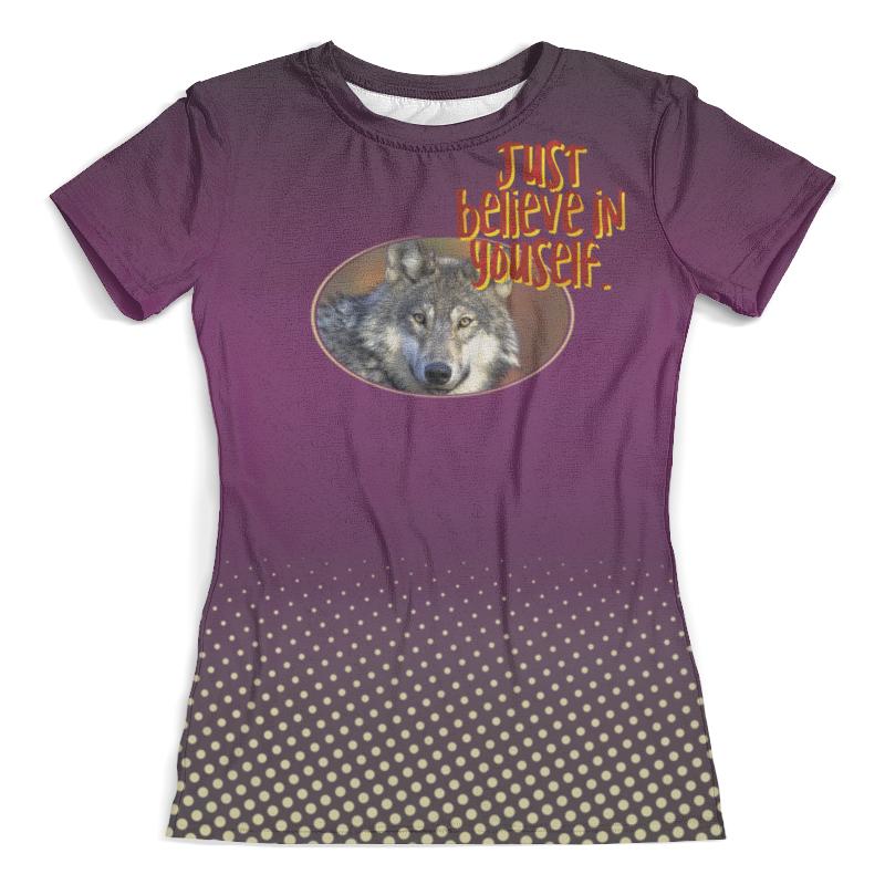Футболка с полной запечаткой (женская) Printio Just believe in yourself футболка шаблон