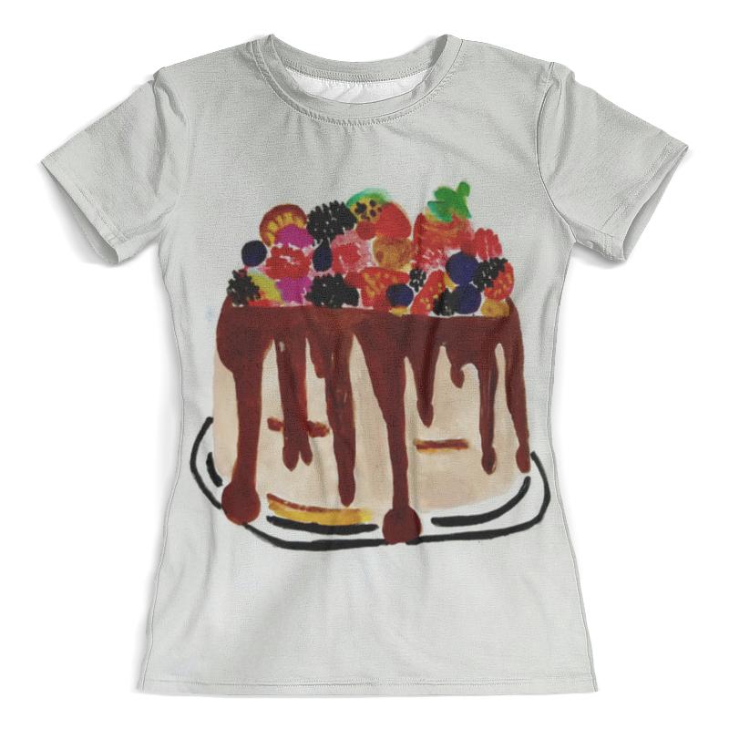 Футболка с полной запечаткой (женская) Printio Тортик футболка с полной запечаткой женская printio battlefield v