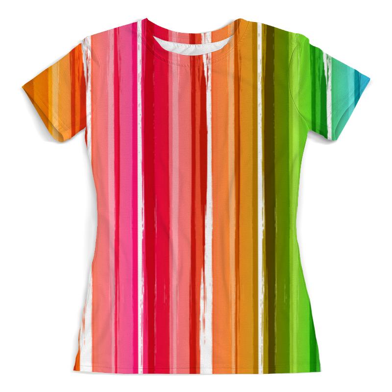 купить Футболка с полной запечаткой (женская) Printio Цветная радуга