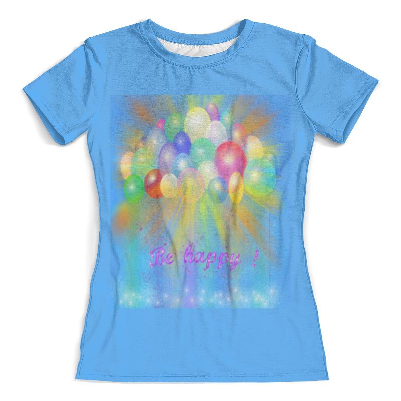 Футболка с полной запечаткой (женская) Printio Разноцветные воздушные шары. футболка с полной запечаткой женская printio разноцветные воздушные шары