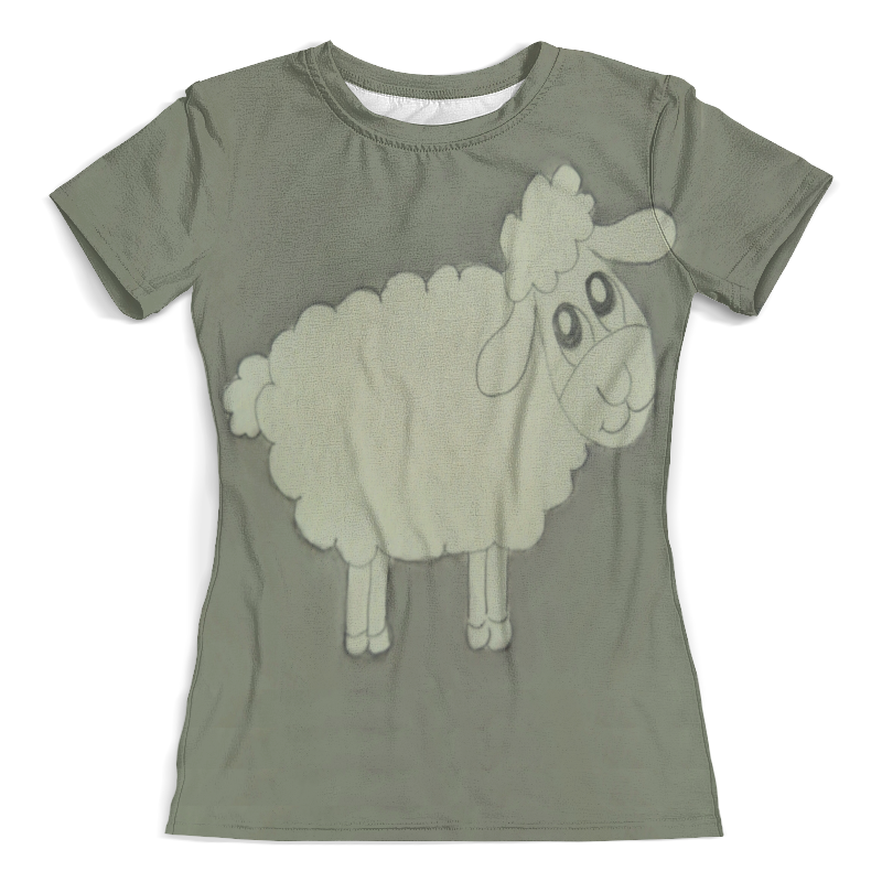 Футболка с полной запечаткой (женская) Printio Футболка овечка недорго, оригинальная цена