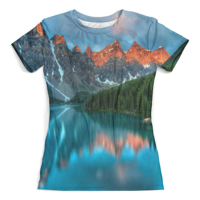 Футболка с полной запечаткой (женская) Printio Горы у озера футболка с полной запечаткой мужская printio дом у озера