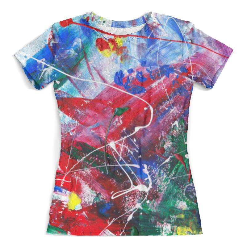 Футболка с полной запечаткой (женская) Printio emotion - всплеск женская одежда