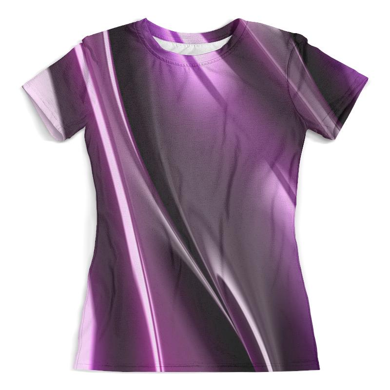 Футболка с полной запечаткой (женская) Printio Фиолетовые линии футболка с полной запечаткой женская printio узор линии
