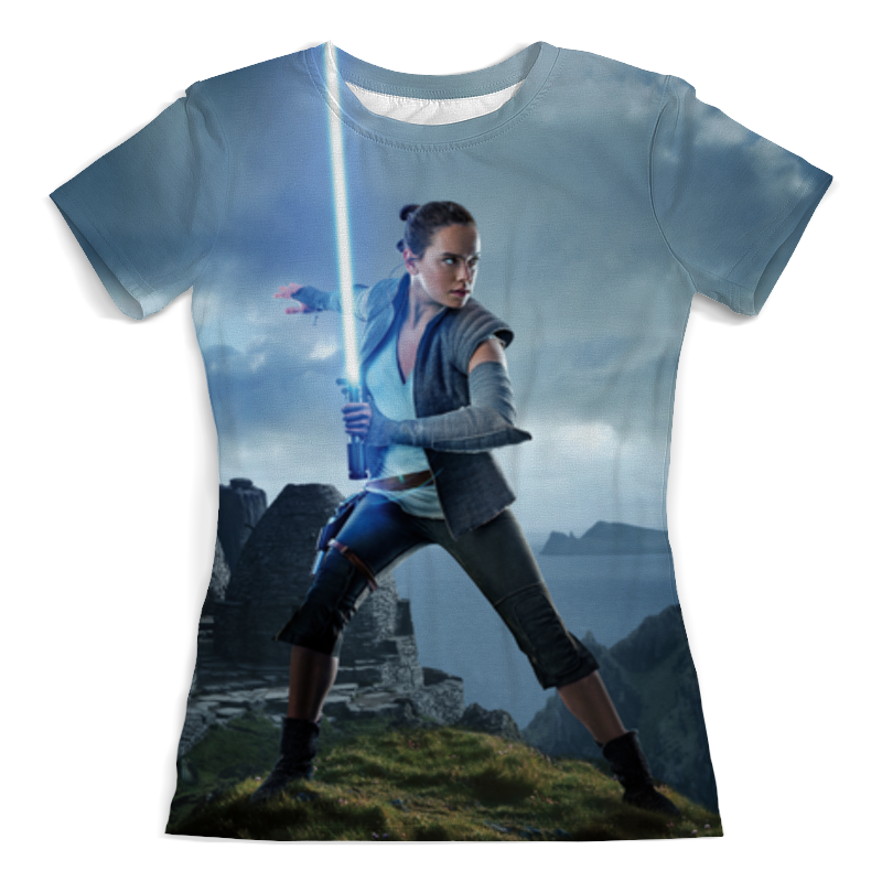 Футболка с полной запечаткой (женская) Printio Звездные войны - рей футболка с полной запечаткой мужская printio звездные войны рей