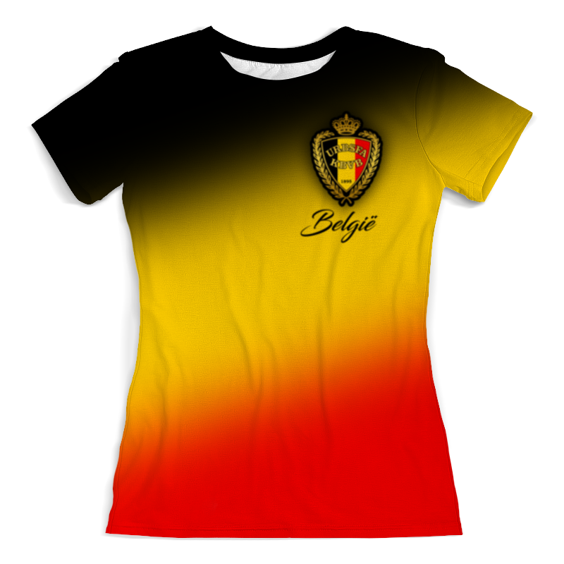 Футболка с полной запечаткой (женская) Printio Сборная бельгии