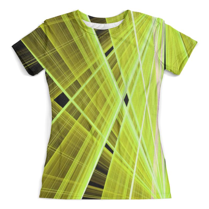 Футболка с полной запечаткой (женская) Printio Желтые линии rk 925 fl