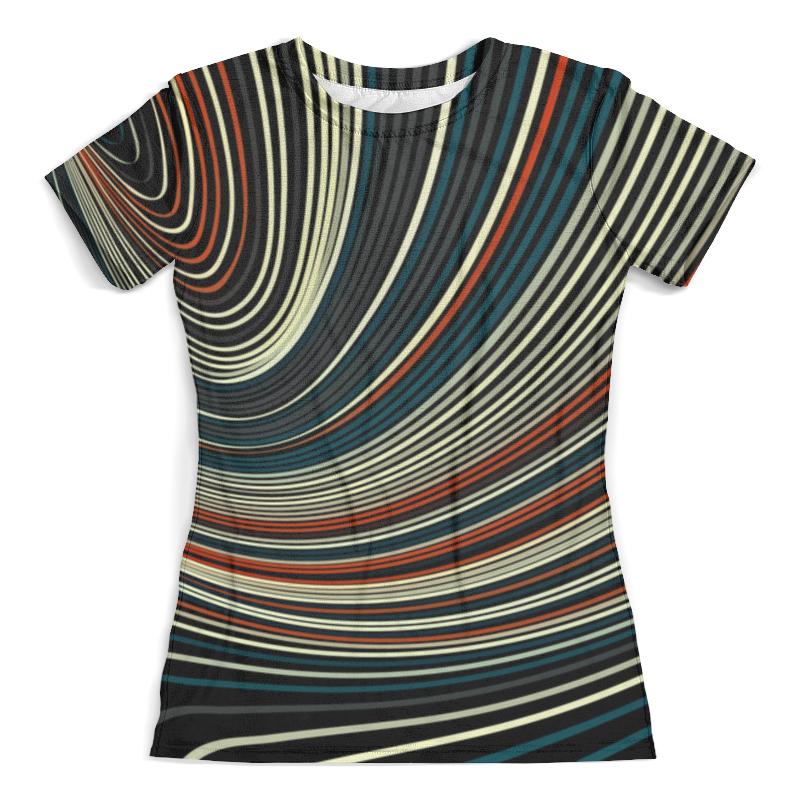 Футболка с полной запечаткой (женская) Printio Линии цветные футболка с полной запечаткой женская printio узор линии