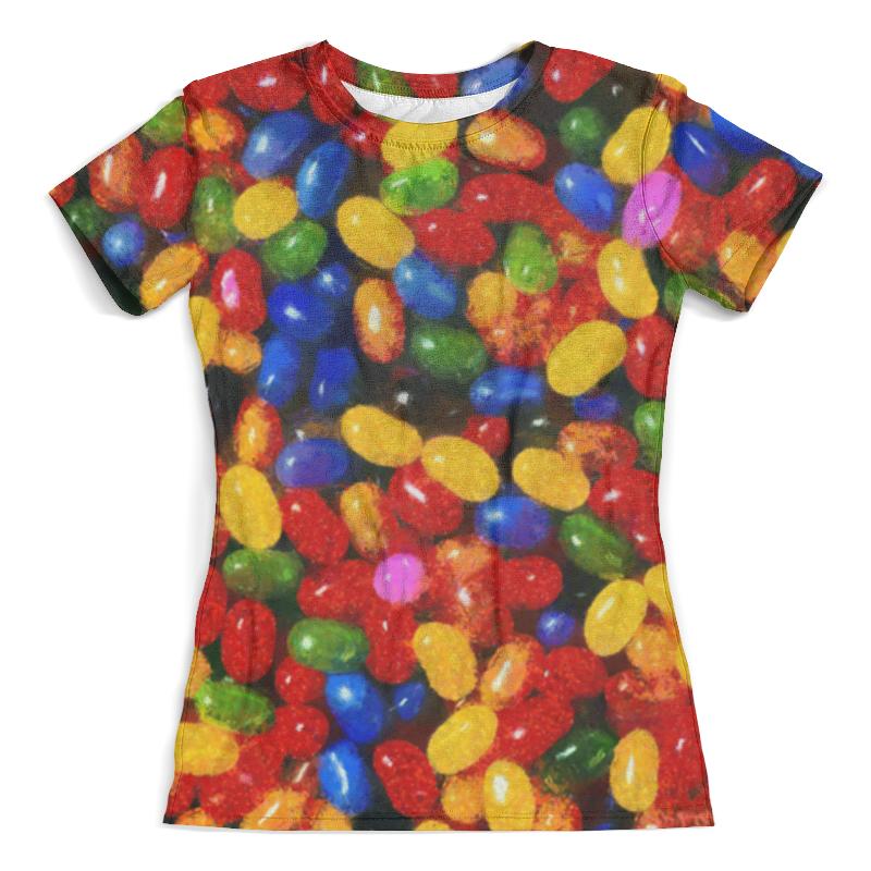 Футболка с полной запечаткой (женская) Printio Разноцветные леденцы толстовка с полной запечаткой printio леденцы