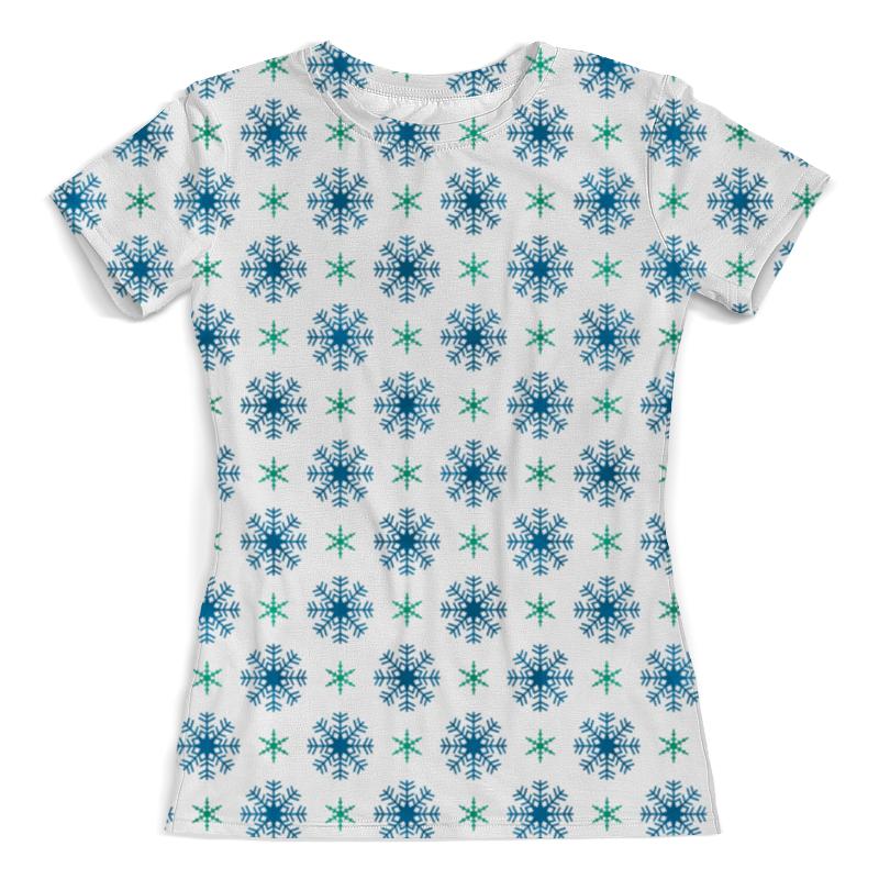 Футболка с полной запечаткой (женская) Printio Падающие снежинки футболка с полной запечаткой мужская printio падающие снежинки