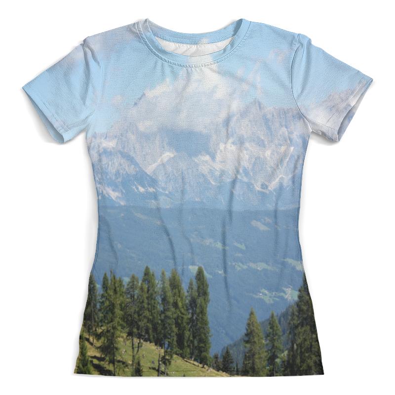 Футболка с полной запечаткой (женская) Printio Горный пейзаж футболка с полной запечаткой мужская printio горный пейзаж