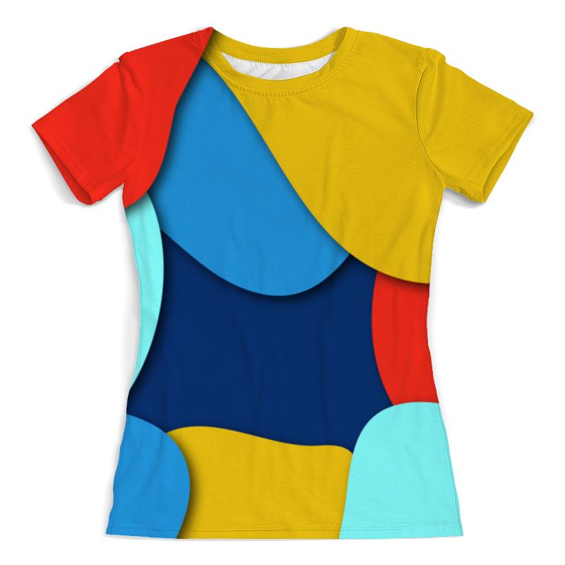 Футболка с полной запечаткой (женская) Printio Разноцветная абстракция футболка с полной запечаткой женская printio синяя абстракция