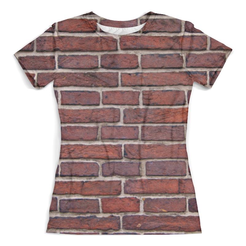 Футболка с полной запечаткой (женская) Printio Кирпичная кладка футболка с полной запечаткой для девочек printio кирпичная кладка