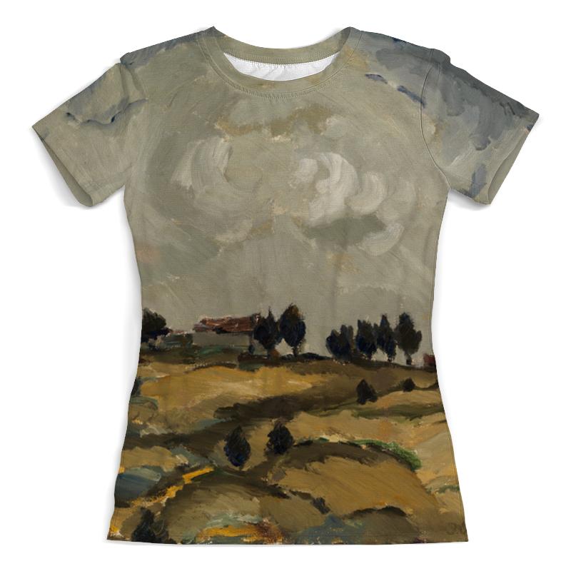 Футболка с полной запечаткой (женская) Printio Осенний пейзаж с облаками (аалто илмари) картина объемная пейзаж