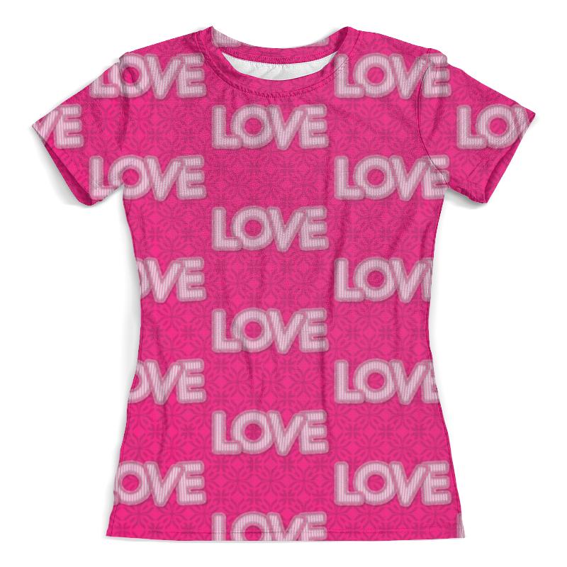 Футболка с полной запечаткой (женская) Printio Love love сумка дорожная edmins цвет серый 30 л 213 нf 420 3 1