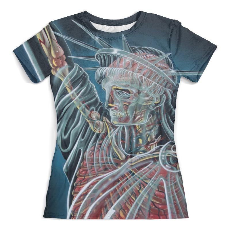 Футболка с полной запечаткой (женская) Printio Статуя свободы футболка с полной запечаткой мужская printio 3d статуя