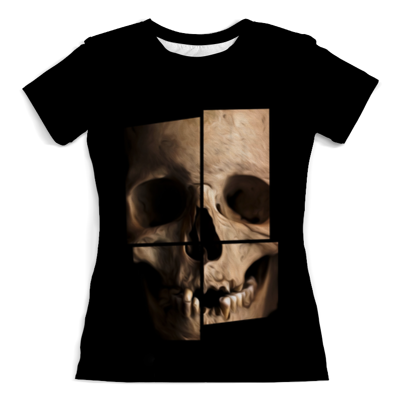 Футболка с полной запечаткой (женская) Printio Череп футболка с полной запечаткой женская printio 3d череп