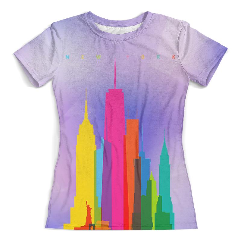 Футболка с полной запечаткой (женская) Printio New york футболка женская zoo york information white