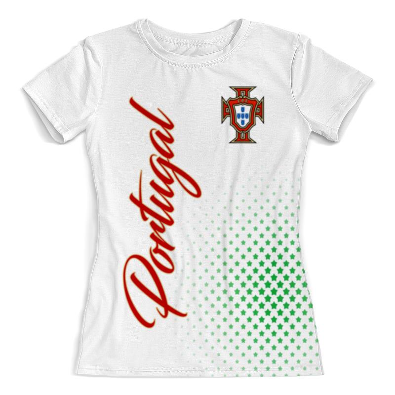 Футболка с полной запечаткой (женская) Printio Сборная португалии обувь в португалии