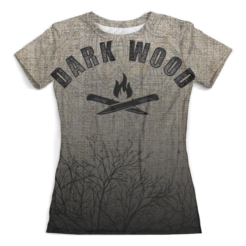 Футболка с полной запечаткой (женская) Printio Dark wood ware r in a dark dark wood