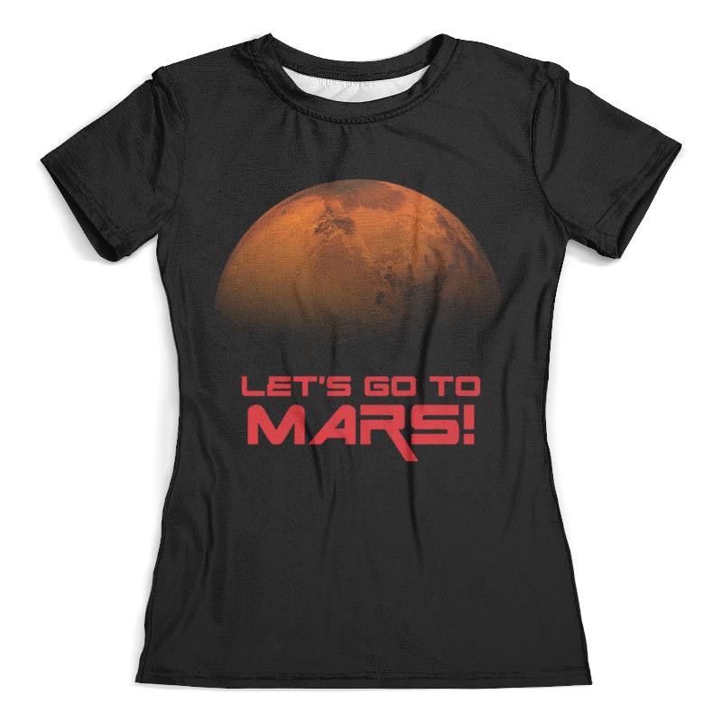 Футболка с полной запечаткой (женская) Printio Let's go to mars!