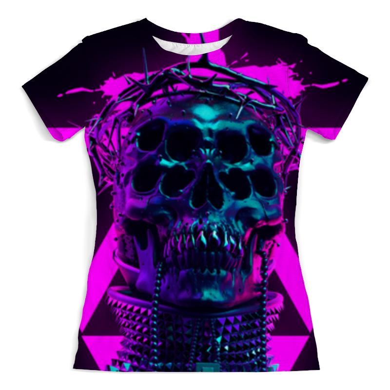 Printio Череп футболка с полной запечаткой женская printio череп в огне