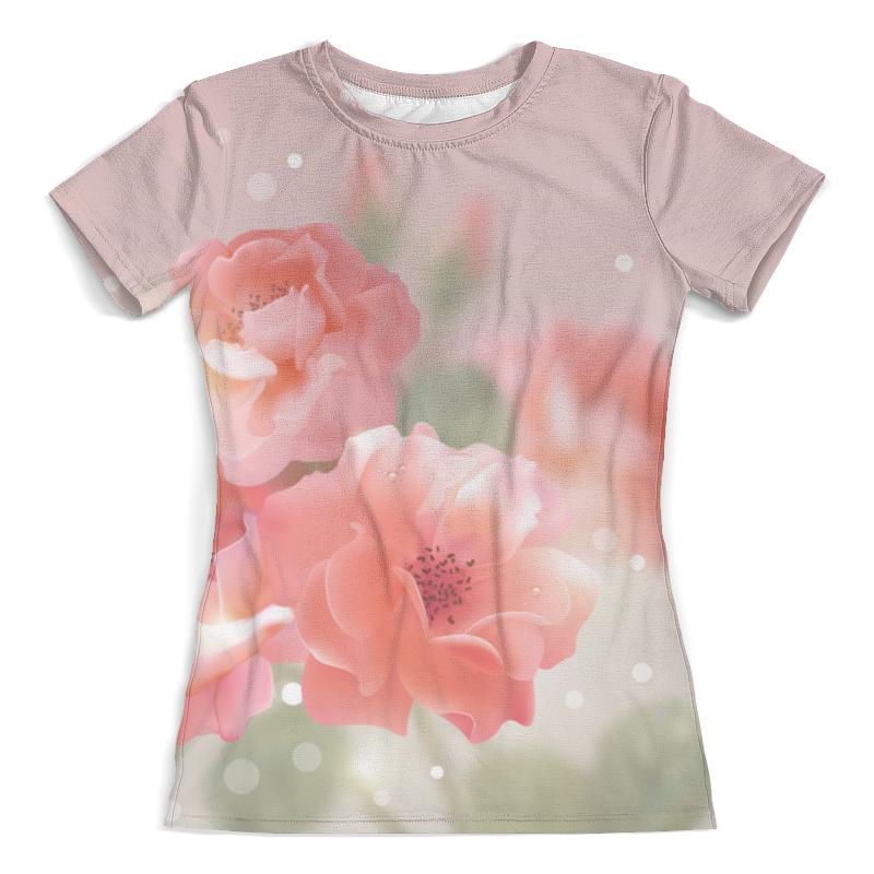 Футболка с полной запечаткой (женская) Printio Цветы футболка с полной запечаткой женская printio battlefield v