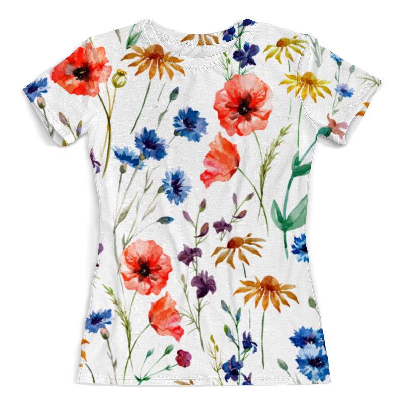 Футболка с полной запечаткой (женская) Printio Полевые цветы футболка с полной запечаткой для девочек printio цветы полевые