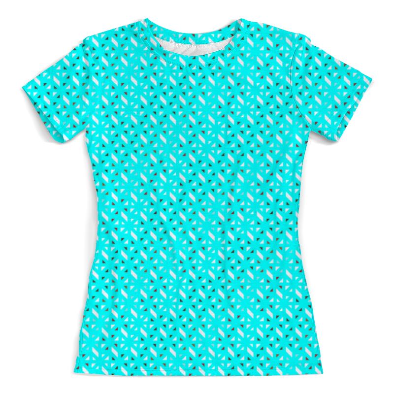 Футболка с полной запечаткой (женская) Printio Голубой геометрический узор футболка с полной запечаткой женская printio розовый узор