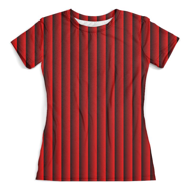 Футболка с полной запечаткой (женская) Printio Красные полосы футболка с полной запечаткой женская printio зелено красные линии