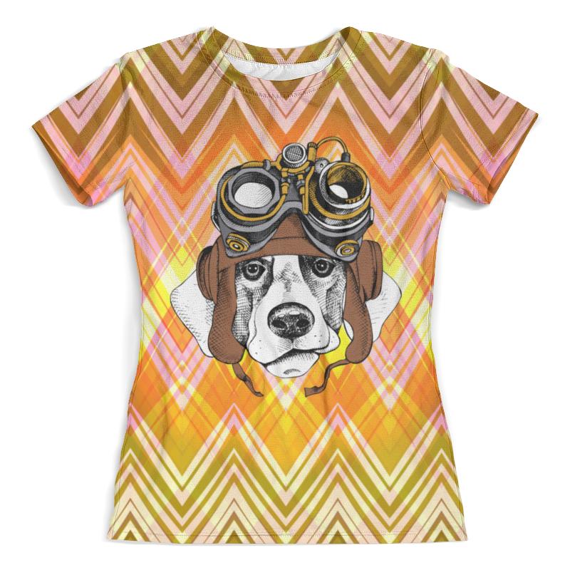 Футболка с полной запечаткой (женская) Printio Пес летчик футболка с полной запечаткой для мальчиков printio пес летчик