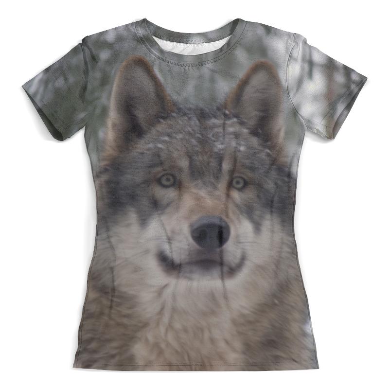 Футболка с полной запечаткой (женская) Printio Волк в лесу футболка с полной запечаткой мужская printio красная шапочка и серый волк