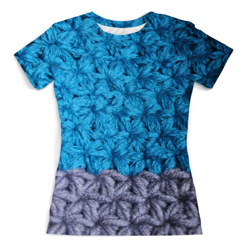 Футболка с полной запечаткой (женская) Printio Снежная синева футболка с полной запечаткой женская printio синева