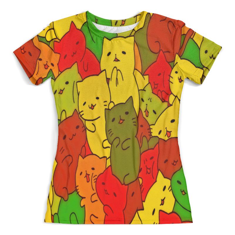 Футболка с полной запечаткой (женская) Printio Кошки футболка для беременных printio кошки не дети