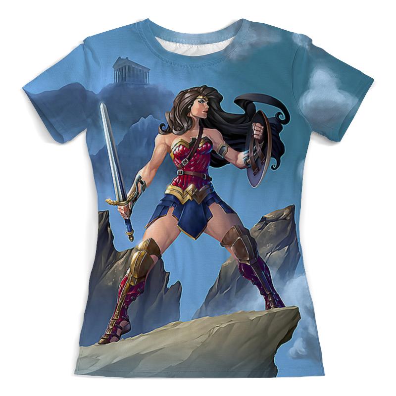 Printio Чудо женщина футболка с полной запечаткой мужская printio чудо женщина оставь их мне