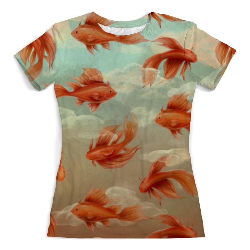 Printio Золотые рыбки футболка с полной запечаткой женская printio кораловые рыбки