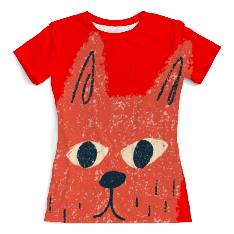 Футболка с полной запечаткой (женская) Printio Любопытный кот футболка с полной запечаткой женская printio миньон