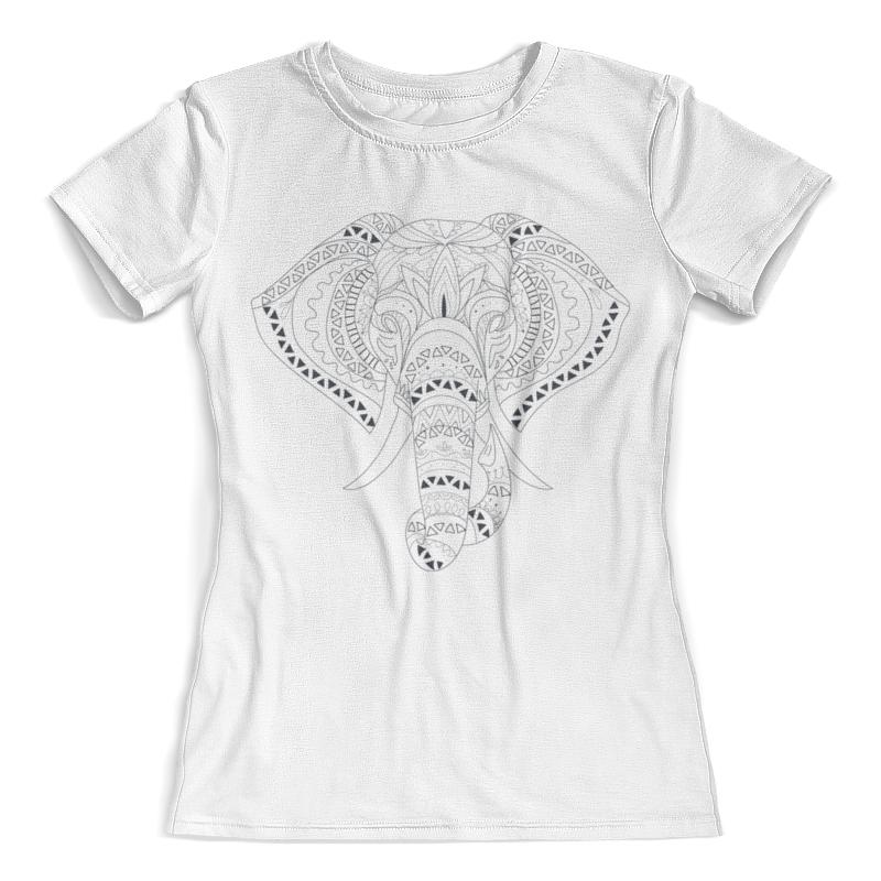 Футболка с полной запечаткой (женская) Printio Этнический слон жен ожерелья с подвесками мода этнический перо кофейный красный синий 70cm ожерелье назначение праздники для улицы