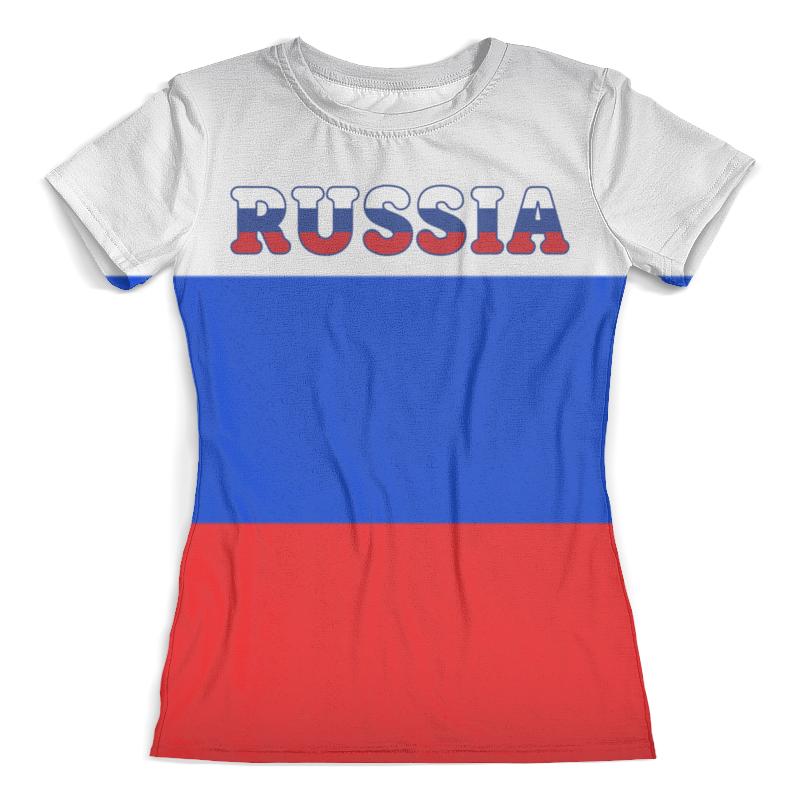 Футболка с полной запечаткой (женская) Printio Я люблю россию футболка с полной запечаткой для мальчиков printio i love russia я люблю россию