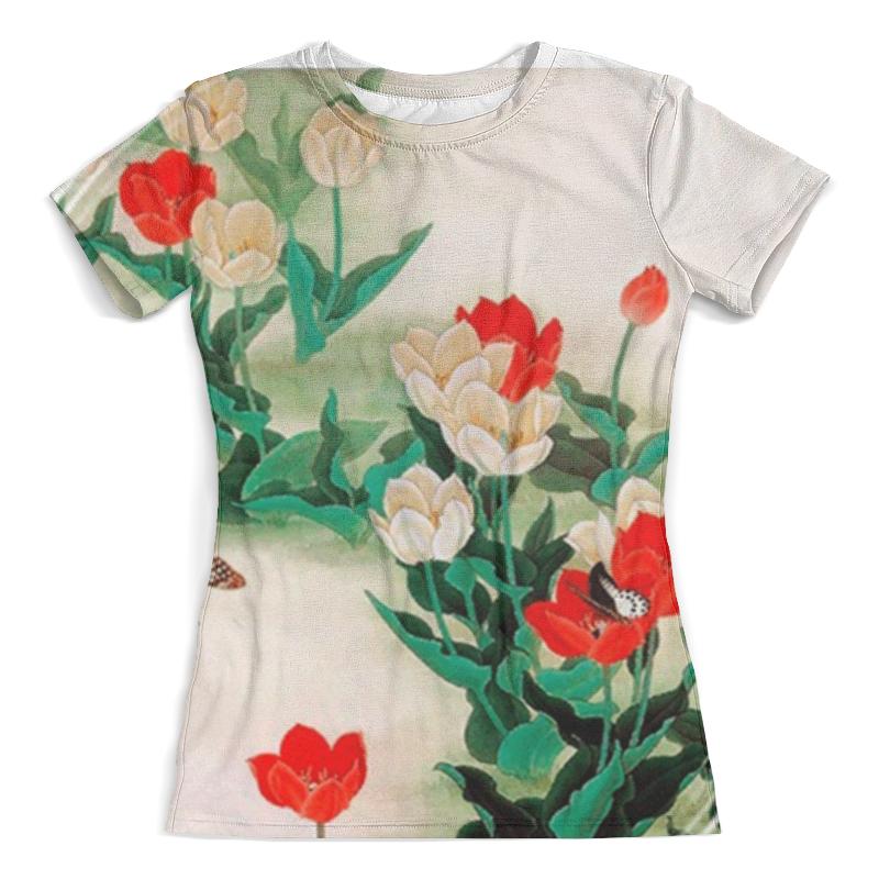 Футболка с полной запечаткой (женская) Printio Тюльпаны футболка print bar красные тюльпаны