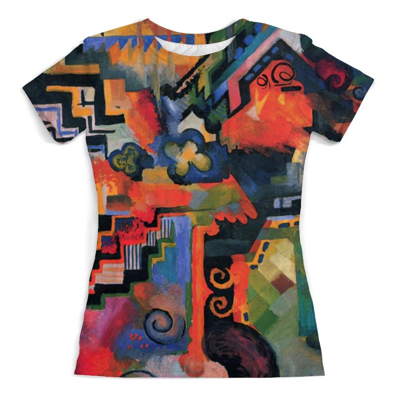 Футболка с полной запечаткой (женская) Printio Цветовая композиция (август маке) футболка с полной запечаткой женская printio парусник в тегернзее август маке