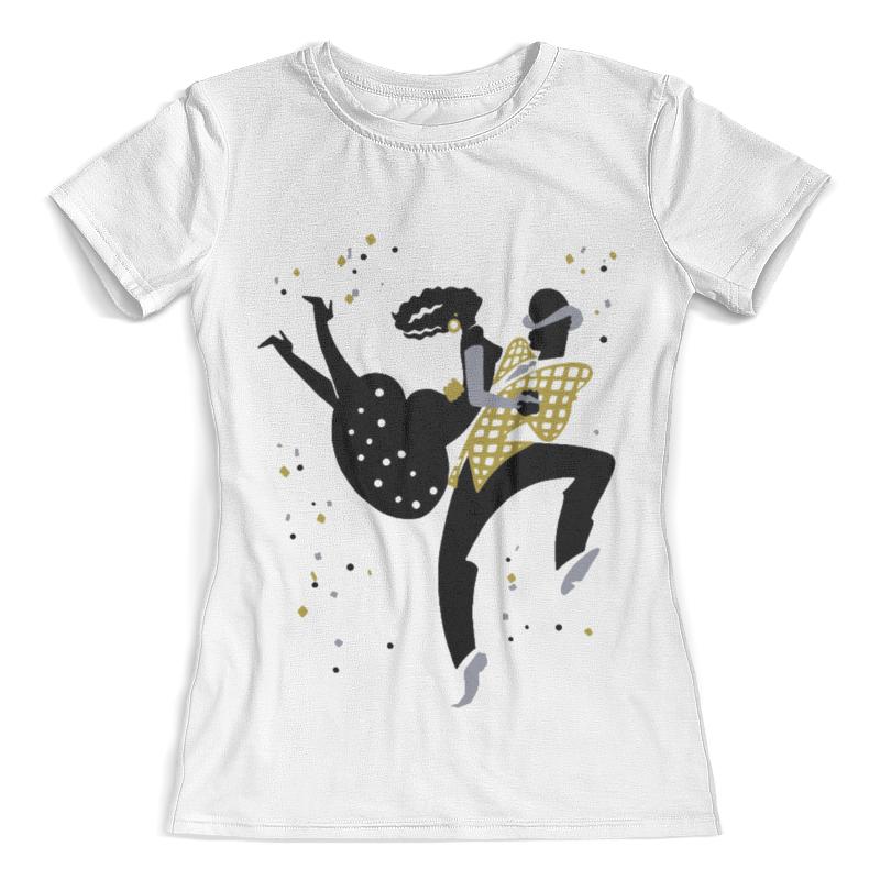 Футболка с полной запечаткой (женская) Printio Танцы. боп цены