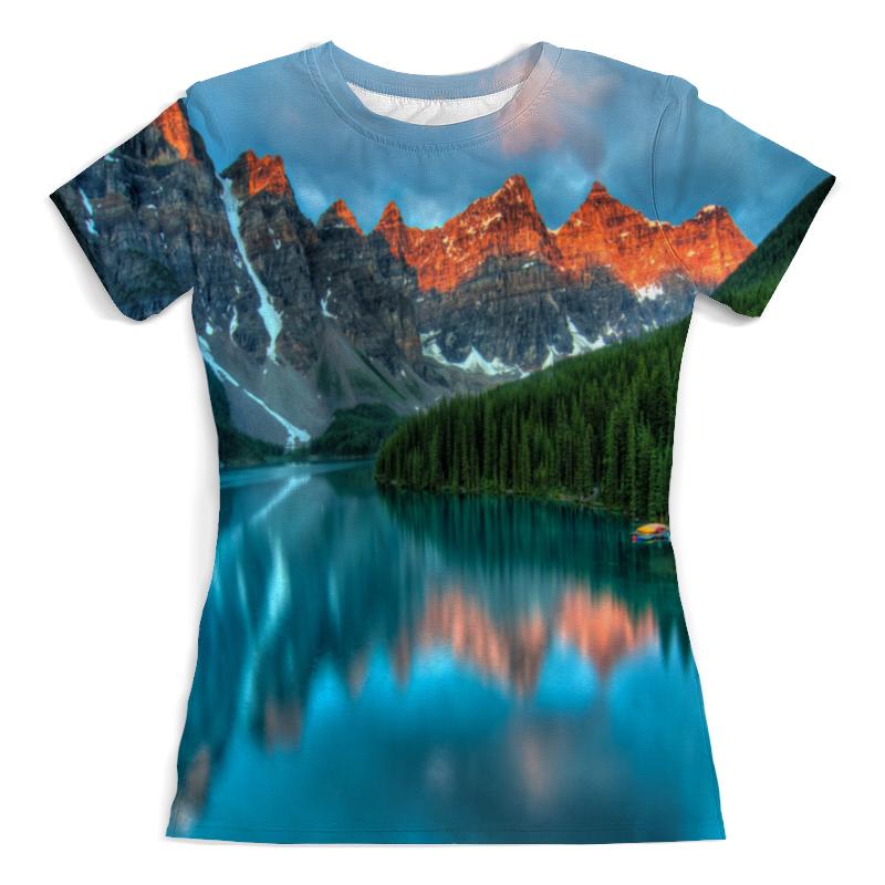 Футболка с полной запечаткой (женская) Printio Горы у озера футболка с полной запечаткой женская printio певица у микрофона