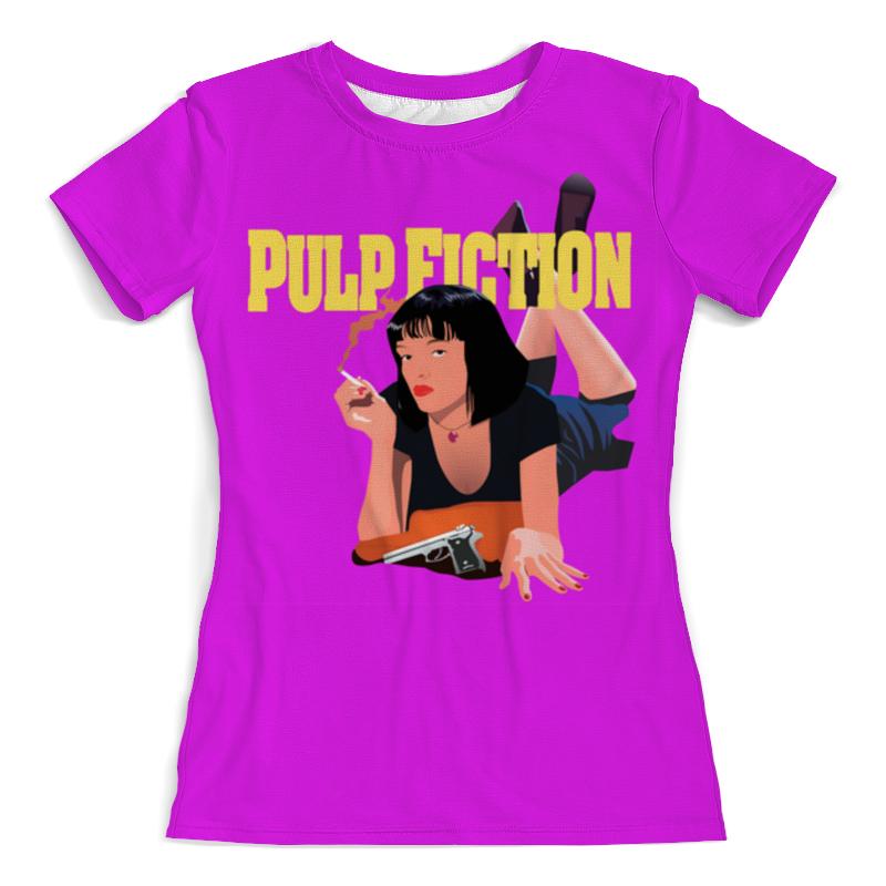 Футболка с полной запечаткой (женская) Printio Pulp fiction (mia) imitation pearls long chain necklaces
